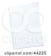 Royalty Free RF Clip Art Of A Blank Sheet Of White Paper by michaeltravers