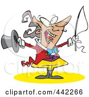 Royalty Free RF Clip Art Illustration Of A Cartoon Energetic Ringmasater