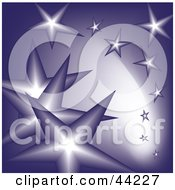Clipart Illustration Of A Background Of Falling Purple Stars
