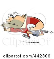 Royalty Free RF Clip Art Illustration Of A Cartoon Rugby Football Player by toonaday
