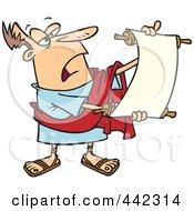 Royalty Free RF Clip Art Illustration Of A Cartoon Roman Crier