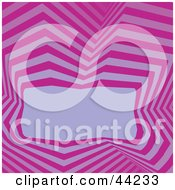 Clipart Illustration Of A Website Background Of Retro Purple And Pink Lines Around A Text Box by kaycee