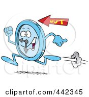 Royalty Free RF Clip Art Illustration Of A Cartoon Running Clock by toonaday