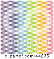 Clipart Illustration Of A Website Background Of A Colorful Rainbow Weave