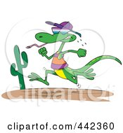 Royalty Free RF Clip Art Illustration Of A Cartoon Running Lizard by toonaday