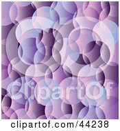 Clipart Illustration Of A Website Background Of Purple Bubbles