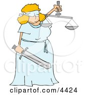 Blind Justice Concept Clipart