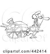 Royalty-Free (RF) Clip Art Illustration of a Cartoon Amish Man ...