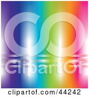 Clipart Illustration Of A Shiny Rainbow Website Background