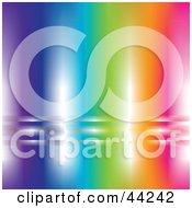Shiny Rainbow Website Background