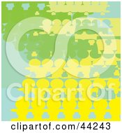 Clipart Illustration Of A Green And Yellow Website Background Of People by kaycee