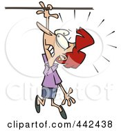 Royalty Free RF Clip Art Illustration Of A Cartoon Businesswoman Losing Her Grip