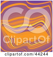 Clipart Illustration Of A Wavy Purple And Orange Abstract Website Background by kaycee