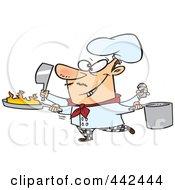 Cartoon Multi Tasking Chef