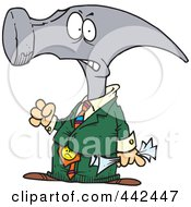 Royalty Free RF Clip Art Illustration Of A Cartoon Hammerhead Businessman by toonaday