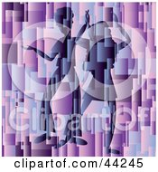 Silhouetted Dancing Couple On An Abstract Purple Website Background