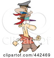 Royalty Free RF Clip Art Illustration Of A Cartoon Man Wearing Many Hats