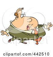 Royalty Free RF Clip Art Illustration Of A Cartoon Heavy Businessman