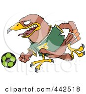 Royalty Free RF Clip Art Illustration Of A Cartoon Soccer Hawk