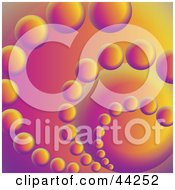 Clipart Illustration Of A Colorful Orange And Purple Spiraling Circle Website Background by kaycee