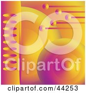 Clipart Illustration Of A Futuristic Orange And Purple Orb Website Background by kaycee