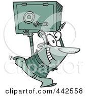 Cartoon Robber Heisting A Safe