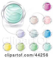 Collage Of Different Pastel Colored Shiny Website Buttons