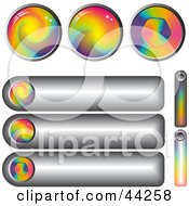 Collage Of Rainbow Spiral Website Buttons