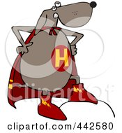 Royalty Free RF Clip Art Illustration Of A Super Dog In A Cape His Hands On His Hips