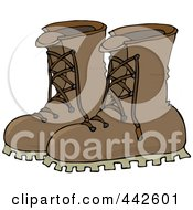Royalty Free RF Clip Art Illustration Of A Pair Of Leather Boots