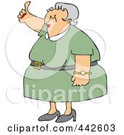 Royalty Free RF Clip Art Illustration Of An Old Woman Holding A Thumb Up by djart