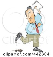 Royalty Free RF Clip Art Illustration Of A Businessman Stepping In Dog Poop