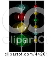 Clipart Illustration Of Strings Of Colorful Beads