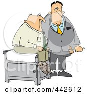 Royalty Free RF Clip Art Illustration Of A Doctor Holding A Reflex Hammer By His Patient