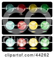 Clipart Illustration Of Strands Of Colorful Glowing Beads