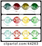 Clipart Illustration Of Shiny Colorful Beads On A String