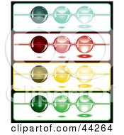 Clipart Illustration Of Strings With Colorful Beads
