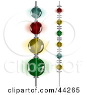Clipart Illustration Of Hanging Beaded Strings