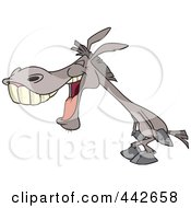 Royalty Free RF Clip Art Illustration Of A Cartoon Donkey Laughing by toonaday