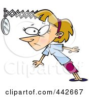 Royalty Free RF Clip Art Illustration Of A Cartoon Businesswoman Looking Back In Hind Sight