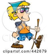 Royalty Free RF Clip Art Illustration Of A Cartoon Hiking Lady by toonaday