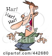 Royalty Free RF Clip Art Illustration Of A Cartoon Laughing Guy