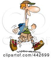 Royalty Free RF Clip Art Illustration Of A Cartoon Happy Male Hiker by toonaday