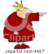 King Pointing Finger At Something Clipart