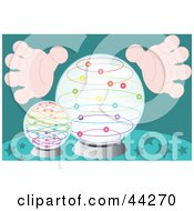 Clipart Illustration Of A Mystics Hands Around A Crystal Ball