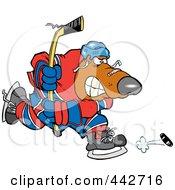 Royalty Free RF Clip Art Illustration Of A Cartoon Bear Hockey Player