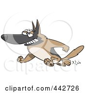 Royalty Free RF Clip Art Illustration Of A Cartoon Hero German Shepherd