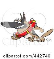 Royalty Free RF Clip Art Illustration Of A Cartoon Lifeguard German Shepherd by toonaday