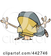 Royalty Free RF Clip Art Illustration Of A Cartoon Businessman With His Head In A Hole by toonaday