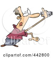 Royalty Free RF Clip Art Illustration Of A Cartoon Man Recording A Home Video by toonaday